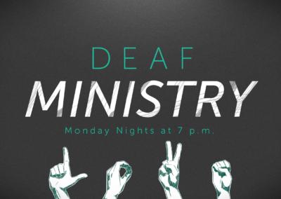Deaf Ministry Study